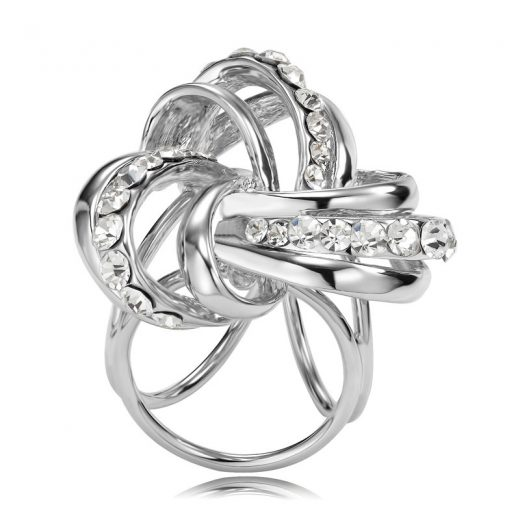 Prsteň na šatku - Keltský uzol - strieborný