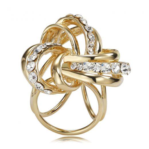 Prsteň na šatku – Keltský uzol – zlatý