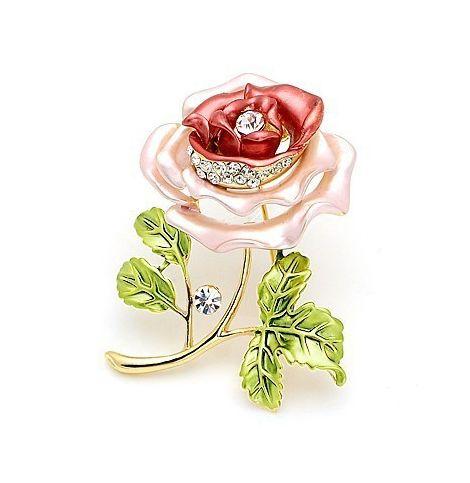 Luxusná brošňa v tvare fialovej ruže