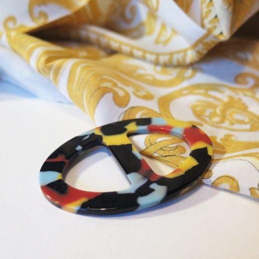 Elegantná ručne brúsená spona na šatku zo živice - farba03