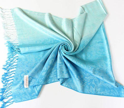Luxusný ručne tkaný kašmírový šál s prímesou hodvábu - vzor09