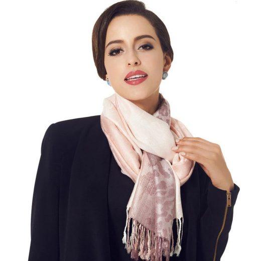 Luxusný ručne tkaný kašmírový šál s prímesou hodvábu - vzor08